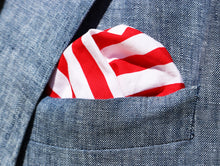 Royal Red Nautical Stripe Pocket Square