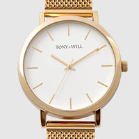 TONY + WILL GOLD MESH WATCH - 42mm