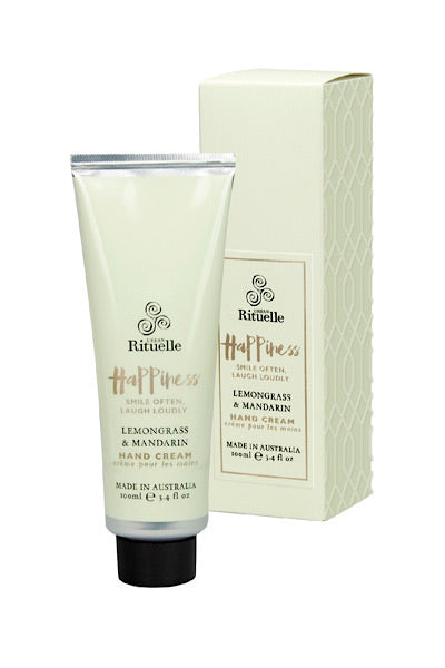 URBAN RITUELLE HAND CREAM 'HAPPINESS' - LEMONGRASS & MANDARIN