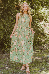 EBBY & I AZALEA DRESS - Green