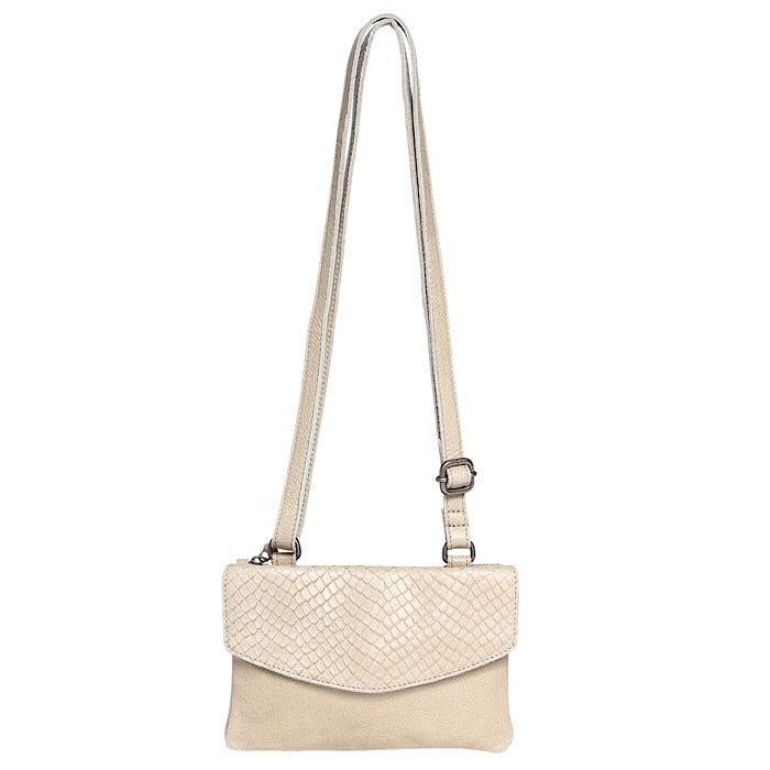 MODAPELLE LEATHER CROSSBODY BAG - 5955  Pistachio