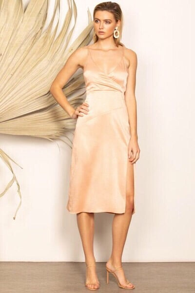 WISH THE LABEL 'CONSTANCE MIDI DRESS' - GOLDEN