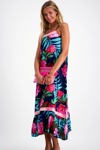 NAUDIC NELLIE MAXI DRESS - Pink Lady Navy