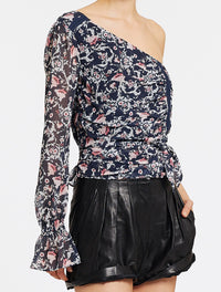 STEVIE MAY ASYMMETRICAL TOP - PERSIAN FLORAL