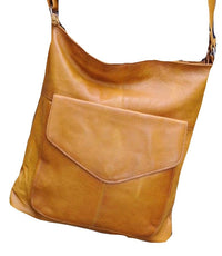 ORAN LEATHER 'EMILY' LEATHER BAG - Tan