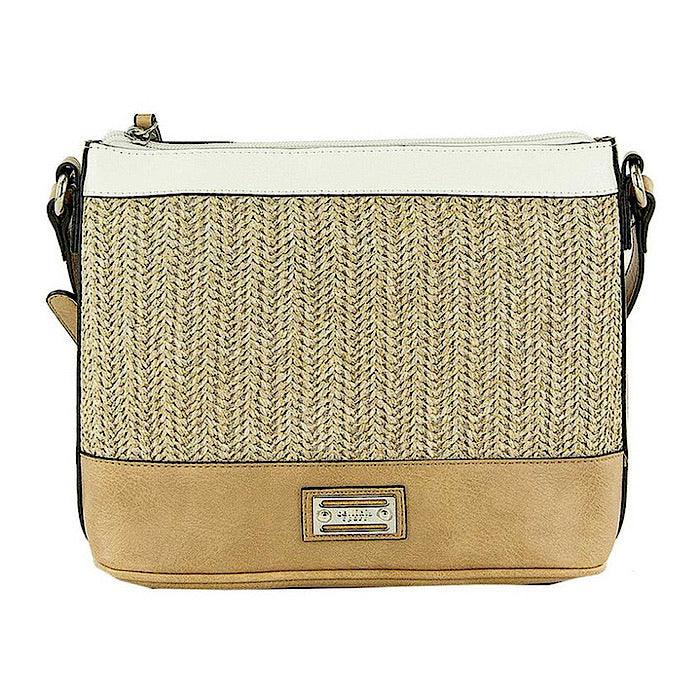 CELLINI CARLA ZIP TOP CROSSBODY BAG - Natural