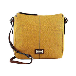 CELLINI SPORT AUDREY ZIP TOP MUSTARD CROSSBODY BAG