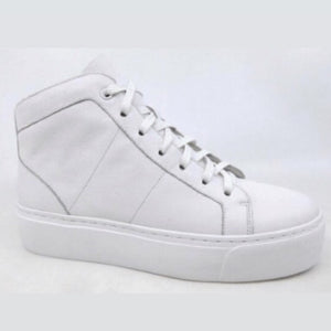 MOLLINI 'COLEKT' LEATHER HIGH TOP SNEAKER - WHITE