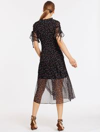 STEVIE MAY HARRIET MIDI DRESS - SILK ROAD