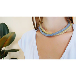 N006 short leather necklace
