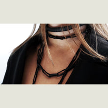 Load image into Gallery viewer, C011 choker with leather chain