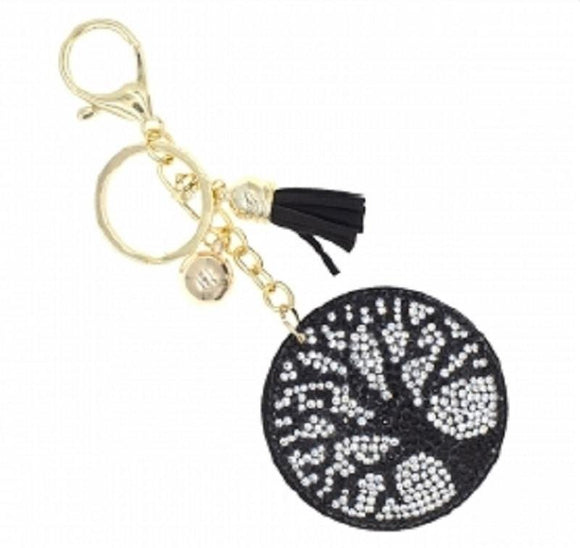 BLACK CLEAR TREE OF LIFE KEYCHAIN ( 31480 )