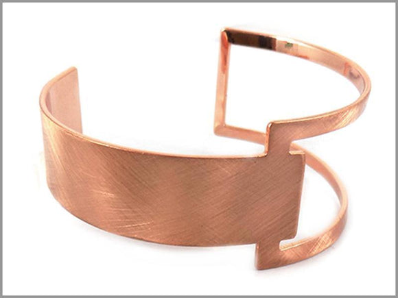 ROSE GOLD CUFF BANGLE ( 4513 RG )