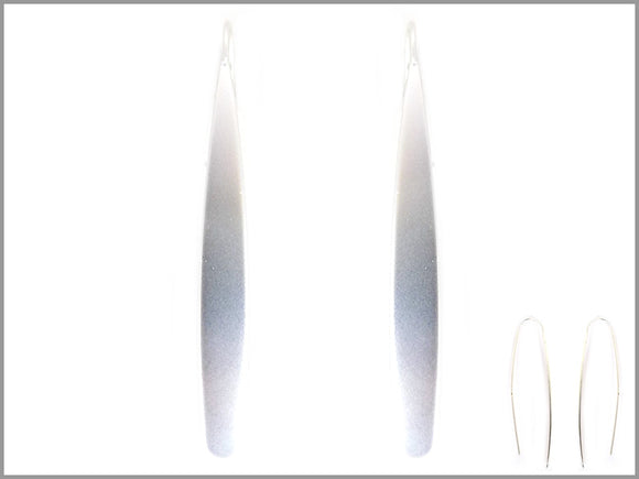 THIN MATTE SILVER EARRINGS ( 2941 )