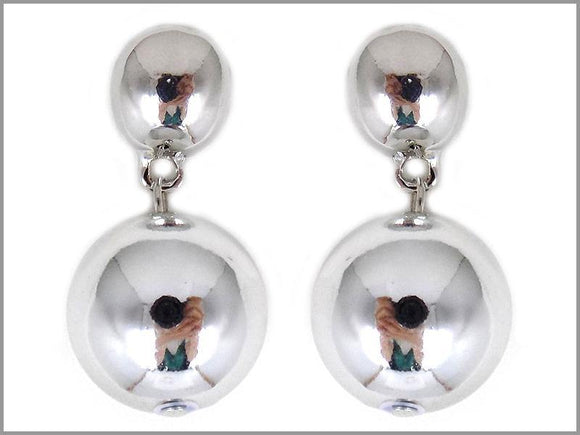 DANGLING REFLECTIVE SILVER EARRINGS ( 3644 R )