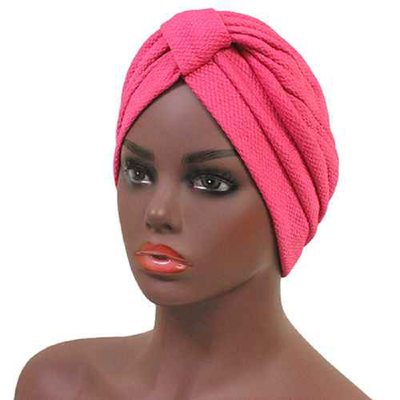 HEADBAND KNOT FUCHSIA COLOR TURBAN ( 2480 )