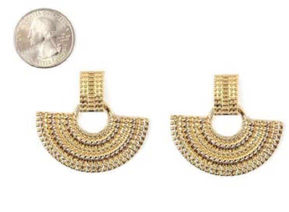 GOLD METAL EARRINGS ( 4772 GD )