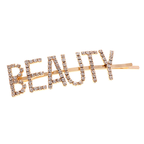 GOLD CLEAR BEAUTY HAIR PIN ( 6018 )