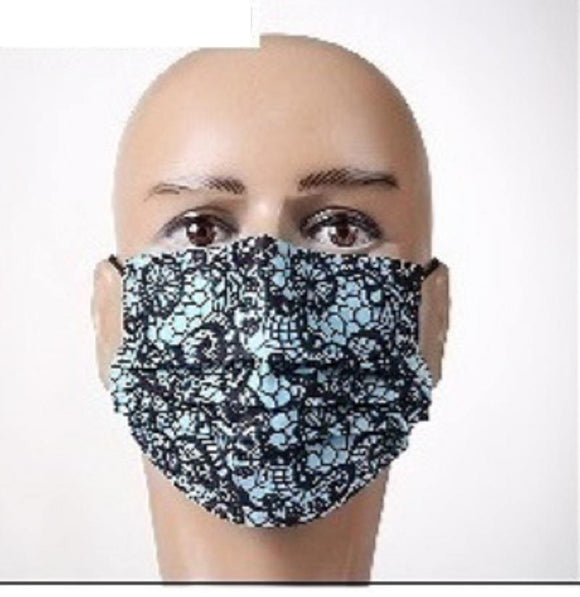 12 BLUE FACE MASKS ( 1039 BLU )