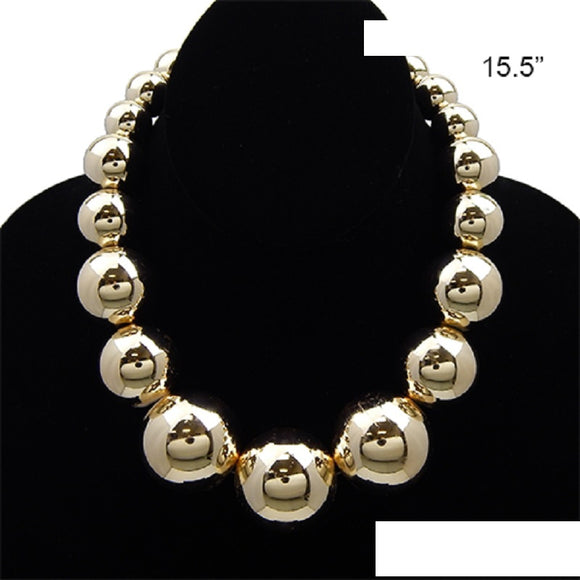 GOLD BALL NECKLACE ( 3426 )