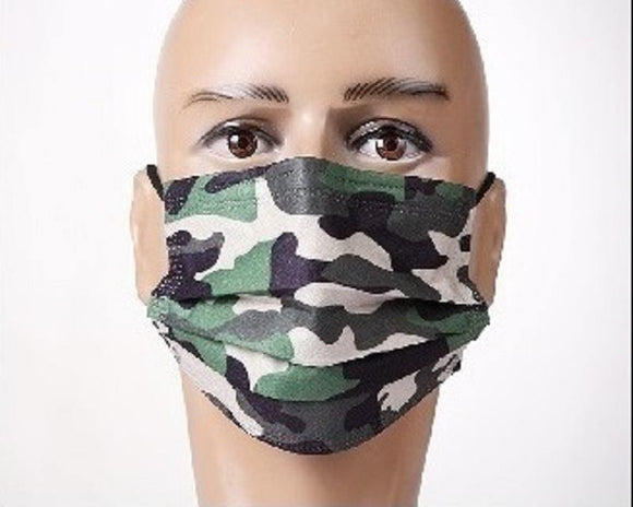 12 CAMOFLAUGE FACE MASKS ( 1036 )