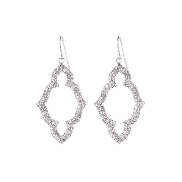 SILVER EARRINGS STONES ( 27050 )