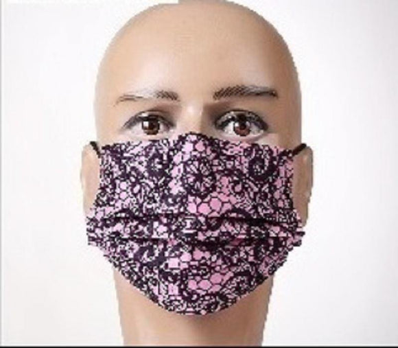 12 PINK FACE MASKS ( 1039 PNK )