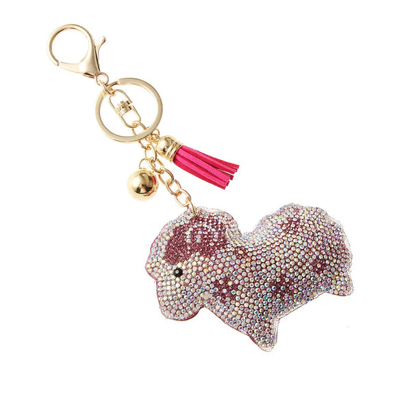 Pink Crystal Lamb Key chain ( 31060 )