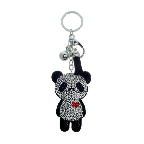 Crystal Heart Panda Bear Key chain ( 31192 )
