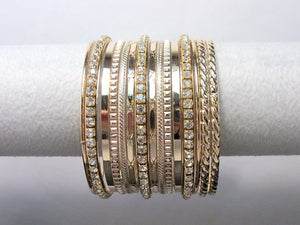 Gold and Rhinestone Multi Bangle Set ( 8944 )