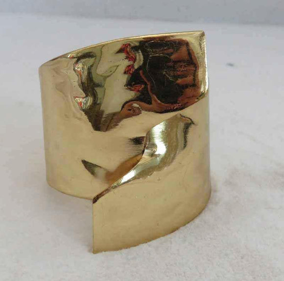 GOLD HAMMERED BANGLE ( 704 )