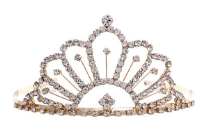 "2.5"" Gold and Clear Rhinestone Crown ( 60156 )"