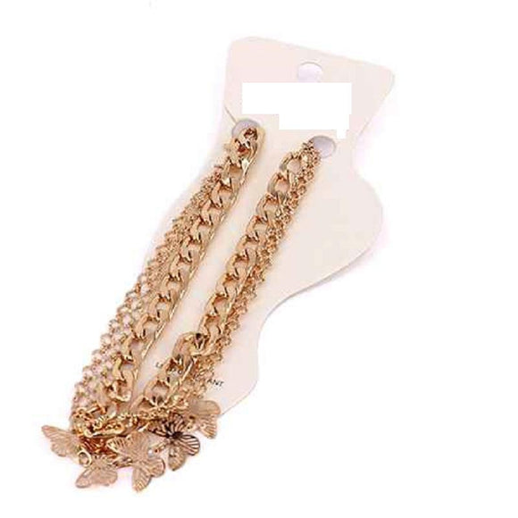 GOLD ANKLET BUTTERFLY CHARMS ( 5003 )