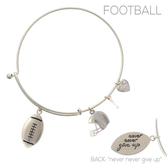 GOLD BANGLE FOOTBALL CHARMS ( 83713 )