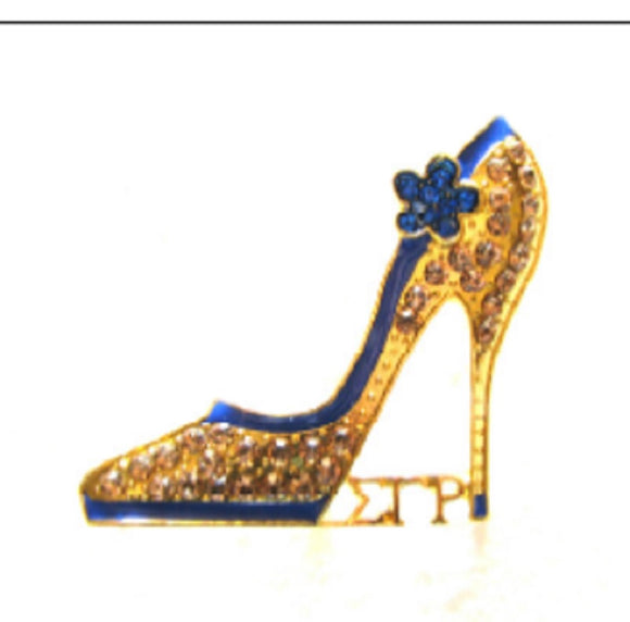 BLUE GOLD SHOE SIGMA GAMMA RHO BROOCH ( 2724 )