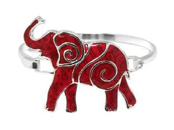 SILVER BANGLE RED ELEPHANT ( 00624 ASRD )