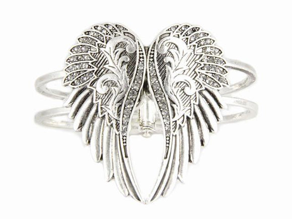 Silver Wings with Hinged Bangle ( 8068 )