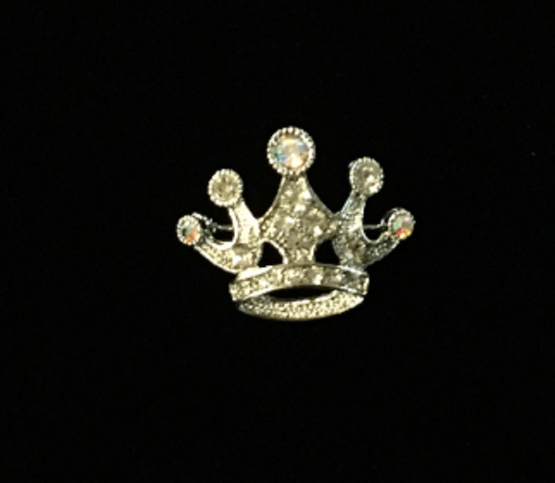 0650ce7210 Silver Clear and AB Rhinestone Crown Brooch ( 14858 ) | Ohmyjewelry ...