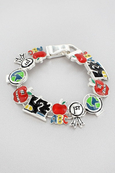 School Teacher Theme Multi Color Magnetic Bracelet ( 3450 )