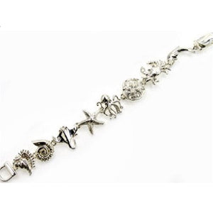 Silver Sea Life Theme Magnetic Bracelet ( 3489 )