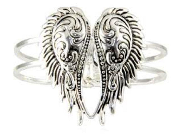 Silver Wings with Hinged Bangle ( 8202 )