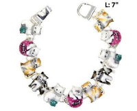 Multi Color Magnetic Cat Theme Bracelet