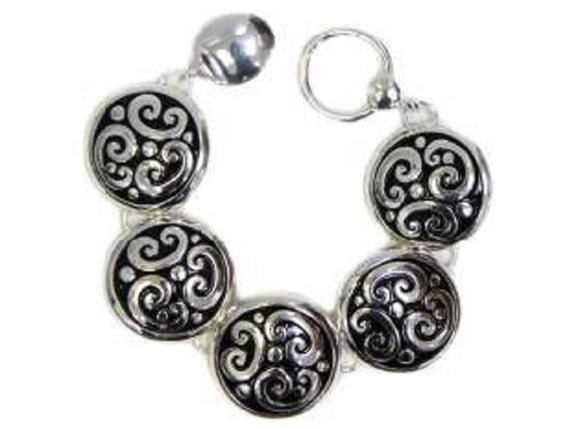 Tailored Design Round Filigree Magnetic Bracelet ( 8340 )