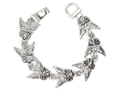 Silver and Rhinestone Angel Magnetic Bracelet ( 8375 )