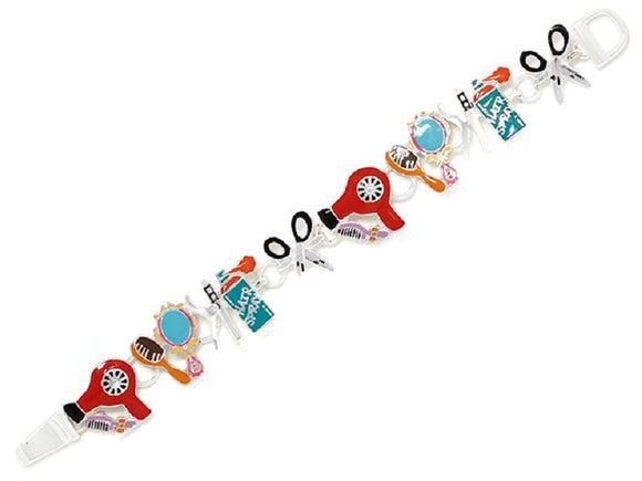 Multi Color Hairdresser Theme Magnetic Bracelet ( 9891 )