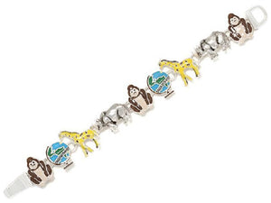 Multi Color SAVE OUR PLANET Animal Theme Magnetic Bracelet ( 9899 )