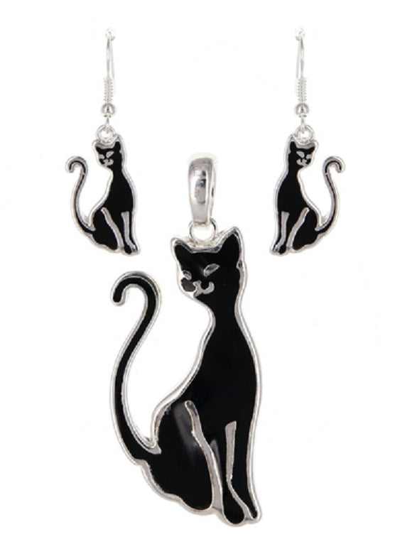 Black Cat Magnetic Pendant Set ( 1626 )