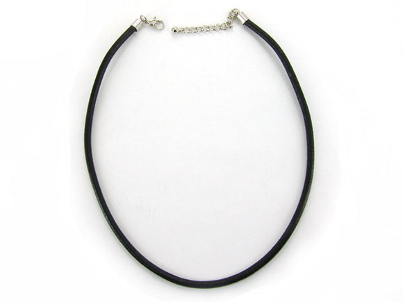 5mm Black Leather Chord Necklace ( 0353 )