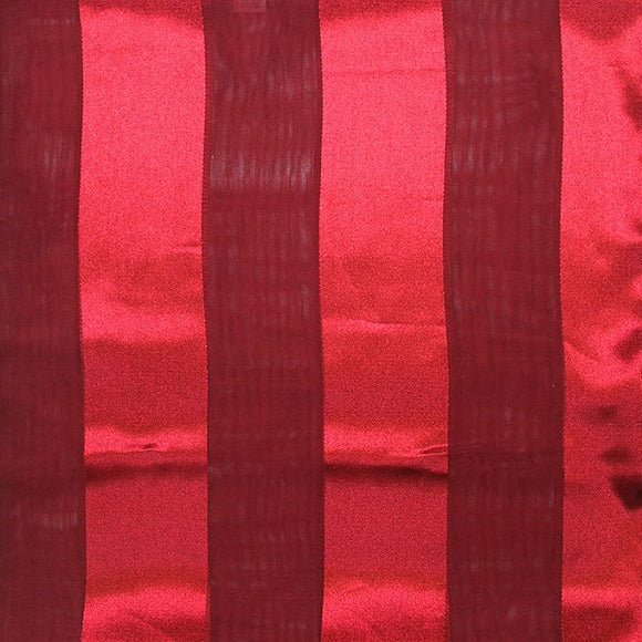 Burgundy Red Satin Stripe Scarf