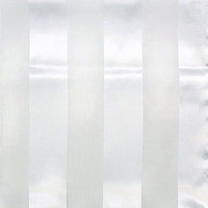 White Satin Stripe Scarf